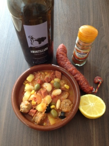 Pork, chorizo, butter bean stew